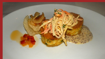 Lump Crab Cakes - Brasserie 8.5, NY, NY- photo by Luxury Experience