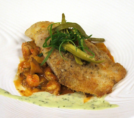 Sweet Corn Crusted Red Fish - Cafe Adelaide, Loews New Orleans Hotel - Photo by Luxury Experience