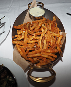Hand-cut steakhouse Fries - The Chandler Steakhouse - MGM Springfield - photo by Luxury Experience