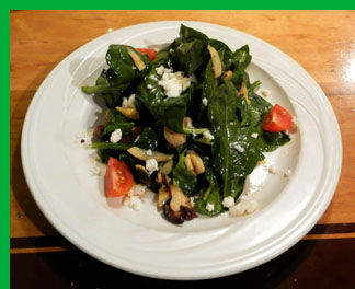 Warm Greek Spinach Salad - Photo By Luxury Experience