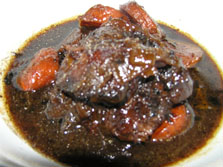 Mijote of Beef Cheeks in Burgundy Wine