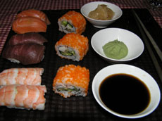 Nigiri and California Rolls