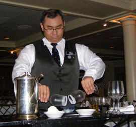 Sommelier Eric prepairing dessert coffee - Commander's Palace, New Orleans, Louisiana -photo by Luxury Experience