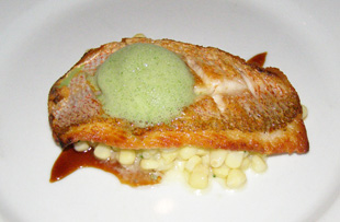 Coquette Spirited Dinner - Fish Course - Photo by Luxury Experience