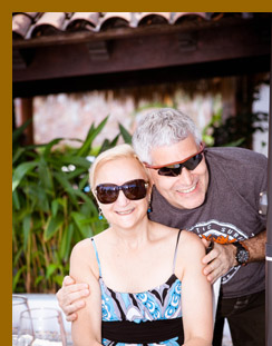 Debra Argen & Edward Nesta at Costa Sur Resort - photo by Luxury Experience