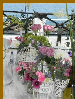 Debra Argen & Flower Arrangement-  Costa Sur Resort - photo by Luxury Experience