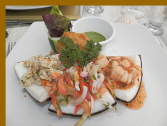 Seafood Fantasy Ceviches -  Costa Sur Resort - photo by Luxury Experience