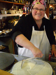 Chef Catherine Schmuck of Creperie Catherine, Mont-Tremblant, Canada - Photo by Luxury Experience