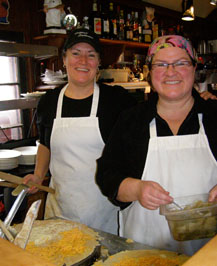 Chefs Lorraine Schmuck and Catherine Schmuck of Creperie Catherine, Mont-Tremblant, Canada - Photo by Luxury Experience