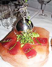 davidburke & donatella sashimi style yellowfin tuna
