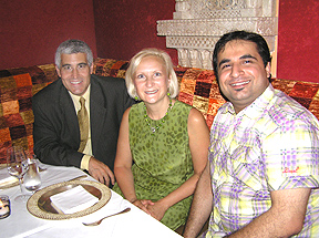 devi Chef Suvir Saran with Edward Nesta and Debra C. Argen