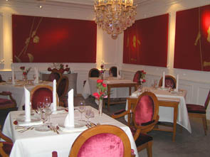 Elegant Dining Room at Die Quadriga in Berlin, Germany