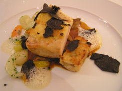 Poulard with Perigord Truffle at Die Quadriga in Berlin, Germany