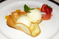 The Earl of Thomond Restaurant, Dromoland Castle Hotel & Country Estate, County Clare, Ireland - Elderflower Ice Cream