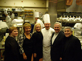 Classmates Celebrating in Escoffier Restaurant Kitchen
