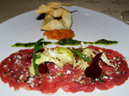 first floor, Berlin, Germany, Hotel Palace Berlin - oxtail carpaccio