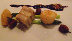 first floor, Berlin, Germany, Hotel Palace Berlin - tuna and scallop