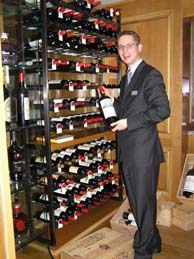 Arno Steguweit in the Wine Cellar at Fischers Fritz in Berlin, Germany