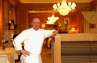 Chef de Cuisine Christian Lohse at Fischers Fritz in Berlin, Germany