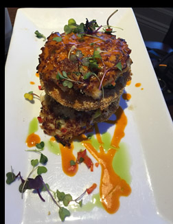 Crab Cake Stack -Fresh Salt - Saybrook, CT - photo by Luxury Experience