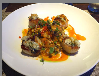 Seared Diver Scallops -Fresh Salt - Saybrook, CT - photo by Luxury Experience