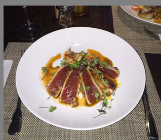 Seared Yellofin Tuna Steak - Fresh Salt - Saybrook, CT - photo by Luxury Experience