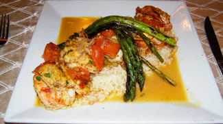 Lump Crab Stuffed Jumbo Shrimp - Giraffe Room Lounge and Restaurant, Inn at Great Neck, Great Neck, New York, USA - Photo by Luxury Experience