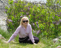 Seaside Restaurant, Grand Hotel Molle, Molle, Sweden - Debra relaxing