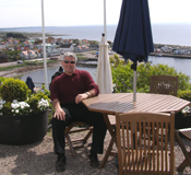Seaside Restaurant, Grand Hotel Molle, Molle, Sweden - Edward relaxing