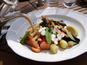 Seaside Restaurant, Grand Hotel Molle, Molle, Sweden - Seafood with Sauce