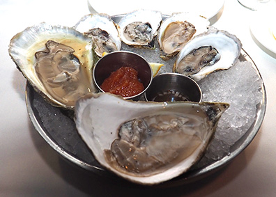 Oysters - Granite Restaurant - photo by Luxury Experience