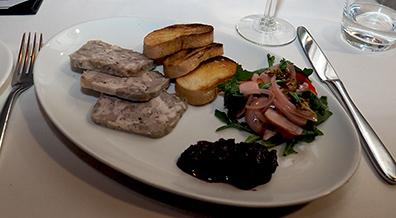 Pork Terrine - Granite Restaurant - photo by Luxury Experience