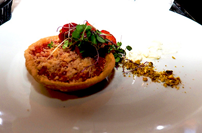 Strawberry Rhubarb Tartlet - Granite Restaurant - photo by Luxury Experience