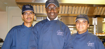 Owner/Chef Colin Lloyd and his team of Greg's Steakhouse, Hamilton, Bermuda