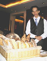 Guy Savoy's Gregory with bread cart