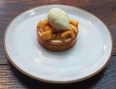 Apple Tart - Hamilton Park Restaurant - New Haven, CT - photo by Luxury Experience