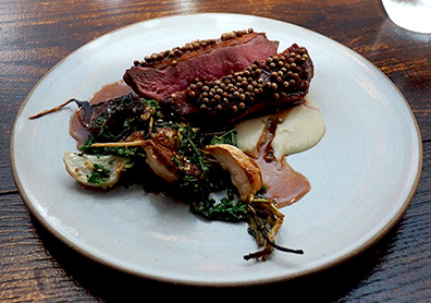 Duck Breast - Hamilton Park Restaurant - New Haven, CT - photo by Luxury Experience