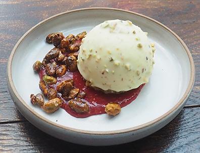 Ice Cream Cake - Hamilton Park Restaurant - New Haven, CT - photo by Luxury Experience