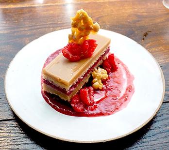 PB&J Opera Cake - Hamilton Park Restaurant - New Haven, CT - photo by Luxury Experience