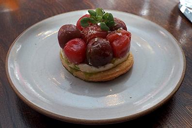Tomato Tart - Hamilton Park Restaurant - New Haven, CT - photo by Luxury Experience