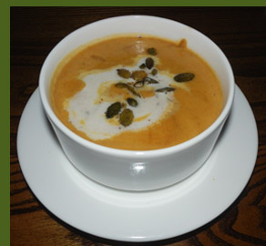 Apple Cider and Butternut Squash Bisque - photo by Luxury Experience
