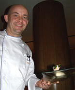 HUGOS Restaurant, Berlin, Germany - Chef Thomas Kammeier with Dessert