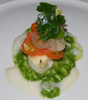 HUGOS Restaurant, Berlin, Germany - Codfish with Risotto