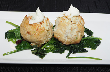 Crab Cakes -- Juniper at Fairmont Washington DC - photo by Luxury Experience