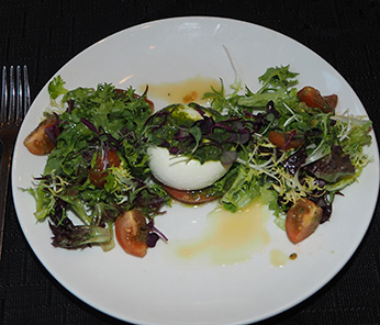 Tomato and Burrata salad - - Juniper at Fairmont Washington DC - photo by Luxury Experience