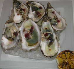 Oysters from Marenne Oleron with Cowberries