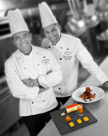 Executive Chef Jean-Claude Crouzet and Sous Chef Pierre-Laurence Valton-Simard