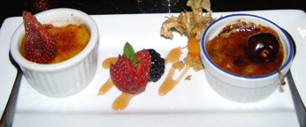 L'Avalanche Restaurant - Bistro Lounge in Mont-Tremblant, Canada - Creme Brulee Duo