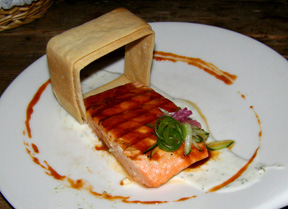 Salmon Dish at La Purificadora, Puebla, Mexico