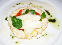 Victoria Jungfrau Collection - La Terrasse - halibut with white bean puree, tomatoes and watercress